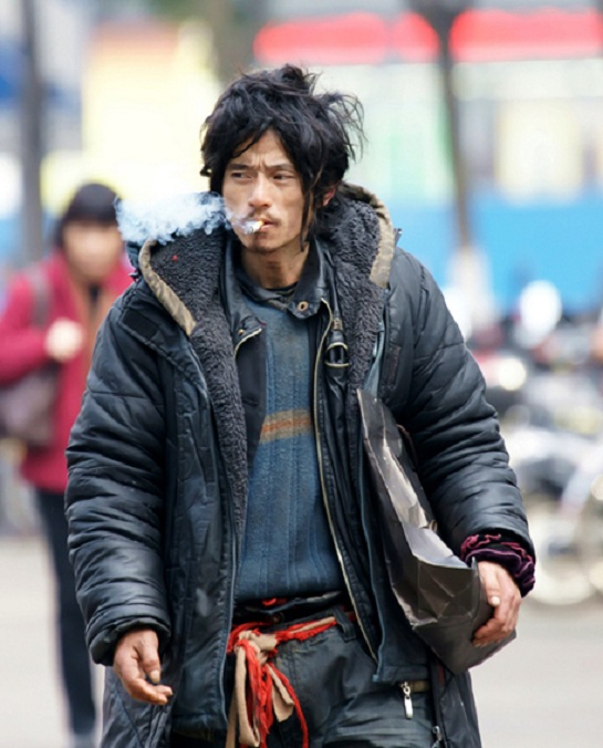 XI Li Ge aka Brother Sharp sporting the Vagabond Chic fashion style