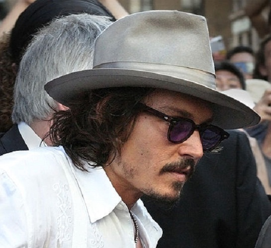 Johnny Depp wearing a cool hat