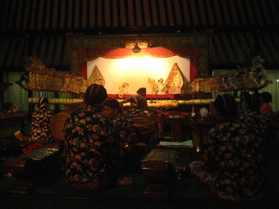 Javanese Wayung puppet show