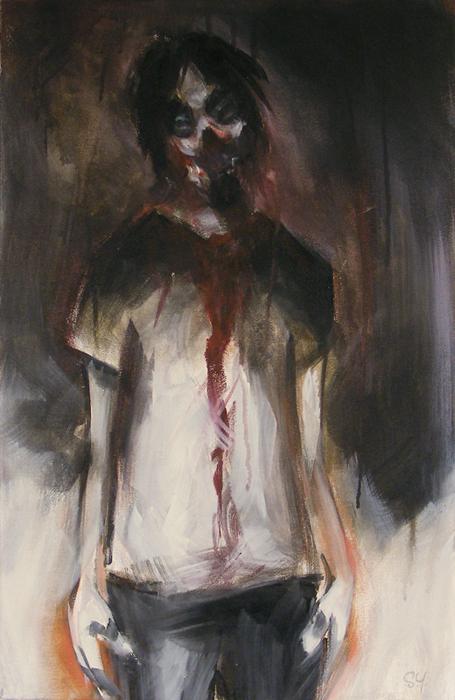 Self-centered by Sean Yates dark art painting