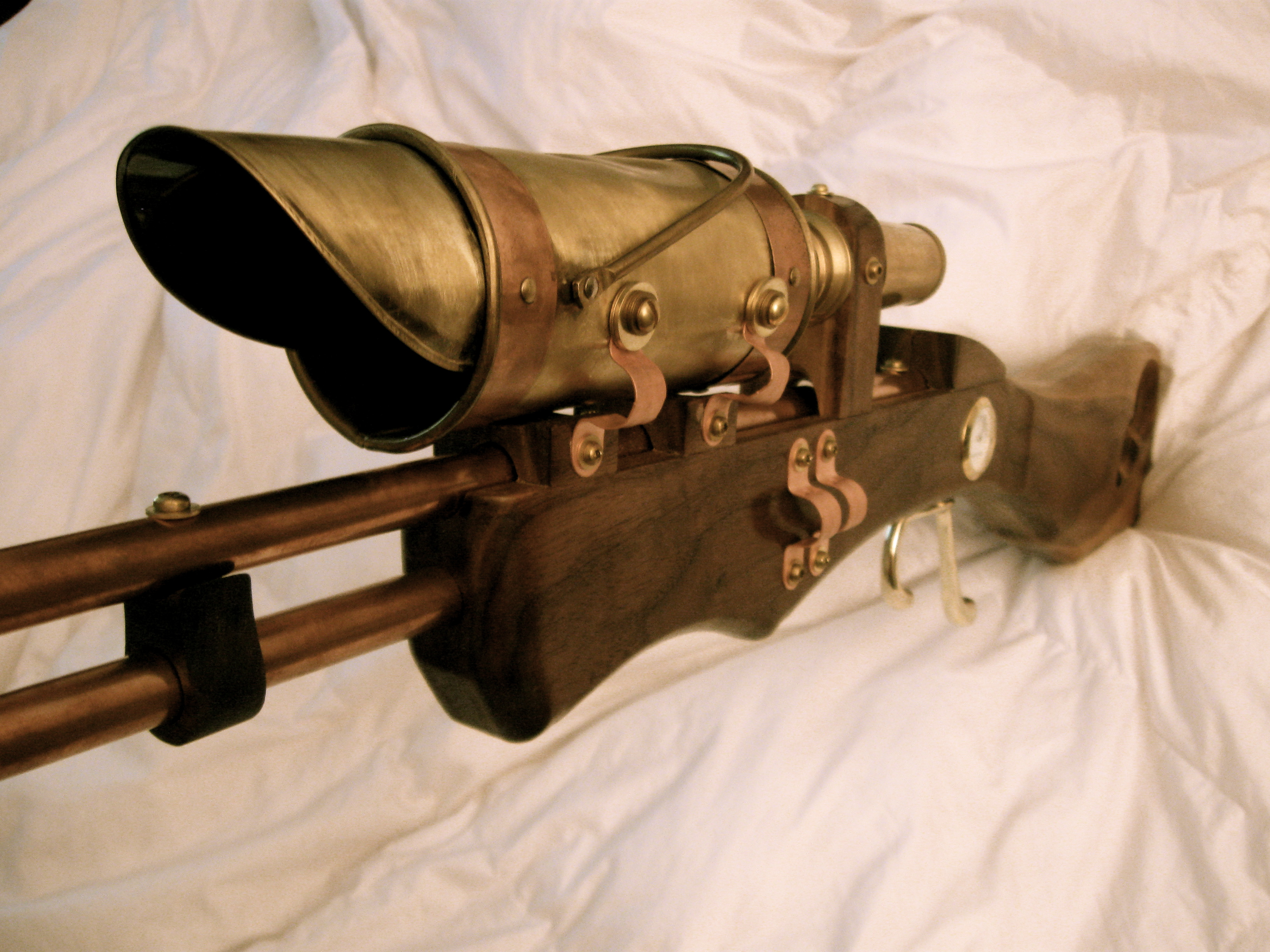 Kyle Miller's steampunk gun and gunsight