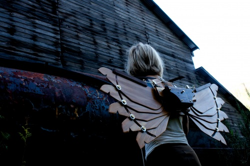 Kyle Miller's steampunk wings