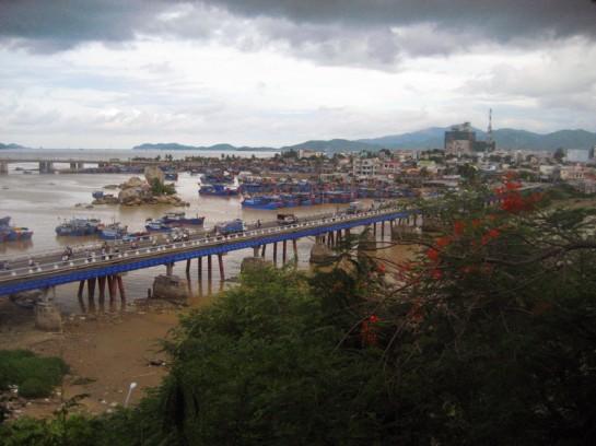 Vietnam skyline and town