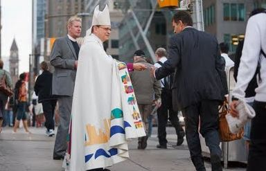a religious maniac downtown Toronto handing out flyers cult