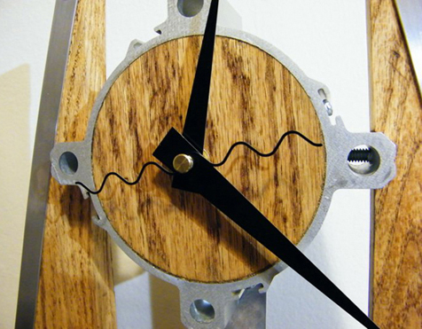 indoors steampunk art manufactured in a workshop clock
