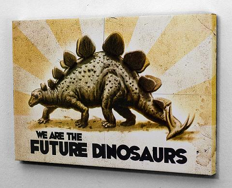 artwork of DUSTIN DIRT! dinosaurs are the future