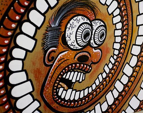 artwork of DUSTIN DIRT! eyes teeth spiral