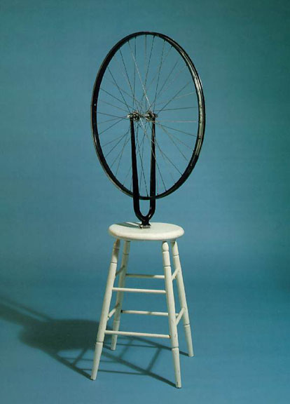 Marcel Duchamp's Bicycle Wheel, the first kinetic sculpture