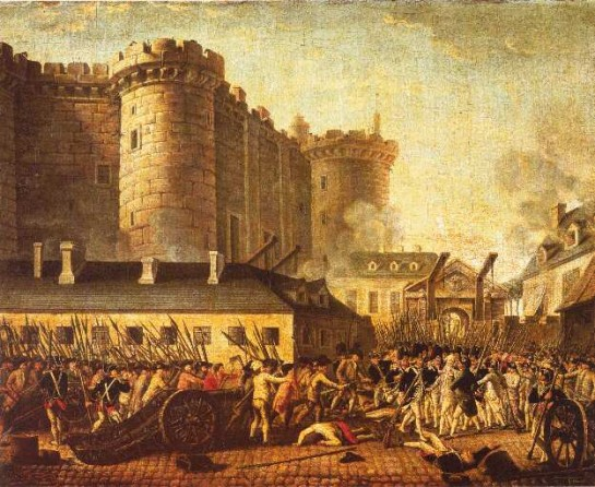 people storming the bastille, art