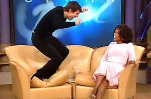 Tom Cruise jumping fool moron brainwashed