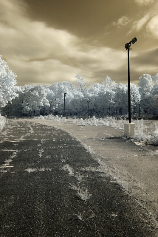 art featuring an empty parking lot