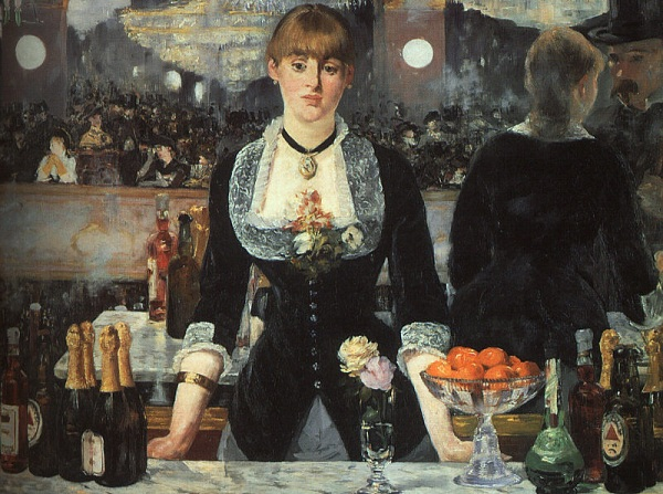 Bar at the Folies Bergeres by Manet from the 19th century
