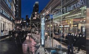 Broadway Bus Stop - by Richard Estes