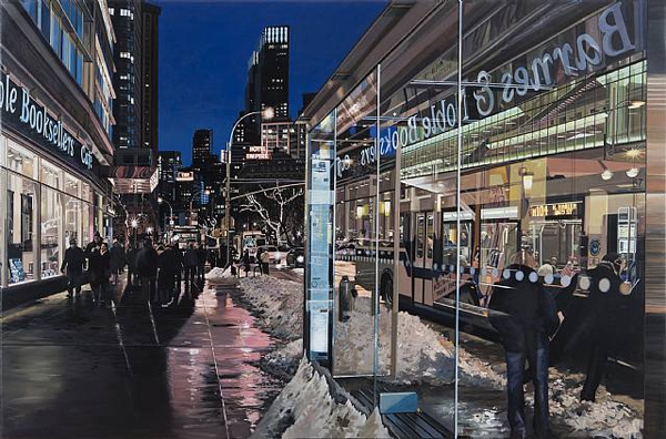 Broadway Bus Stop - by Richard Estes