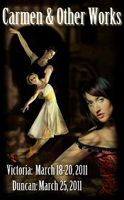 Carmen Ballet Poster from Victoria British Columbia