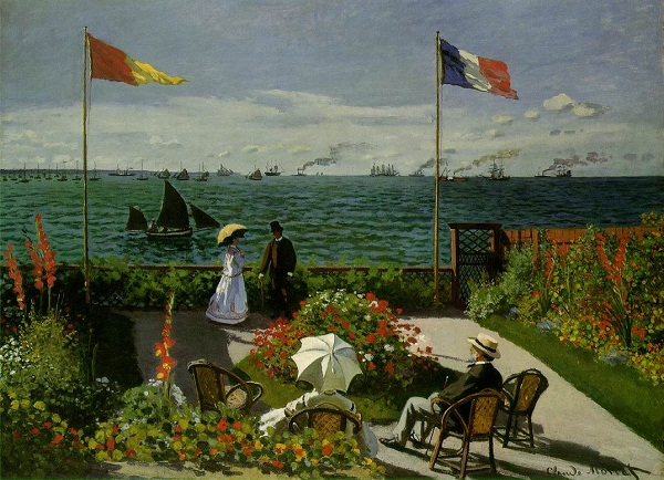 Garden At Sainte Adresse by Claude Oscar Monet, 19th century art/painting