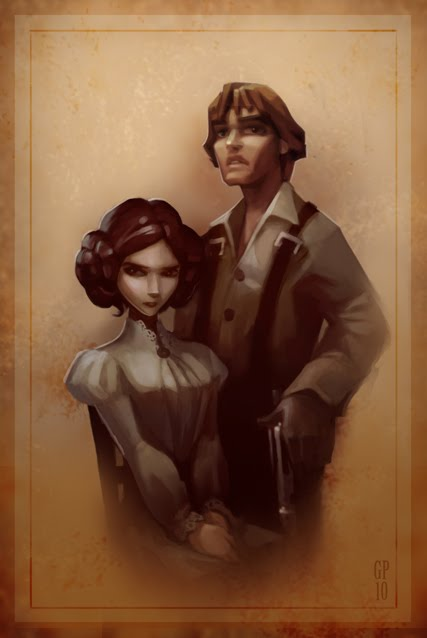 Greg Peltz - Steampunk Hans Solo & Princess Leia