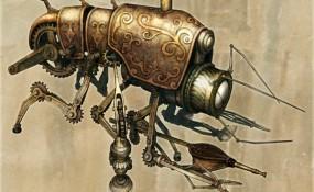 Klik Cog Cleaner - Steampunk Art by Chris Miscik