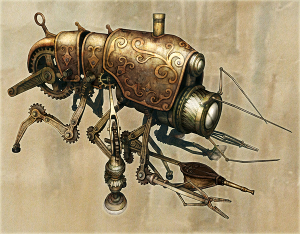 Klik Cog Cleaner - Steampunk Art by Chris Miscik