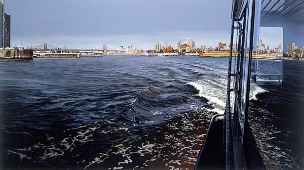 New York Harbor - by Richard Estes