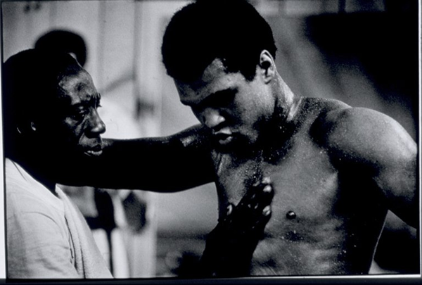 Muhammad Ali trains for his fight with George Foreman in 1974
