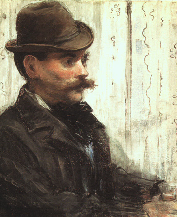 Portrait of Alphonse Maureau - Manet, art from the 19th century