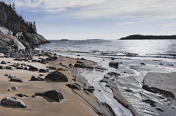 Sand Beach II - by Richard Estes