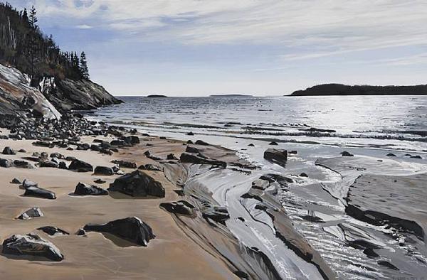 Sand Beach II - by Richard Estes