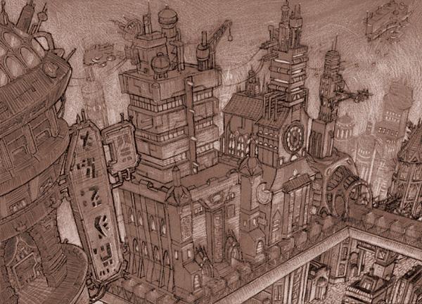 Solrison - Steampunk Art by Chris Miscik