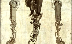 Steampunk Cyclops Leg - Steampunk Art by Chris Miscik