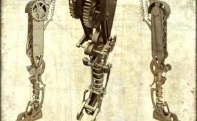 Steampunk Cyclops Leg - Steampunk Art by Chris Miscik