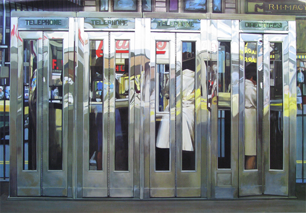Telephone Booths - by Richard Estes