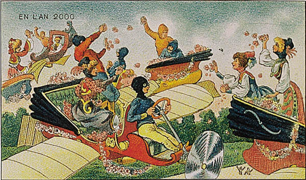 A portrait of life in future, in the year 2000 by Villemard (Utopie 1910)