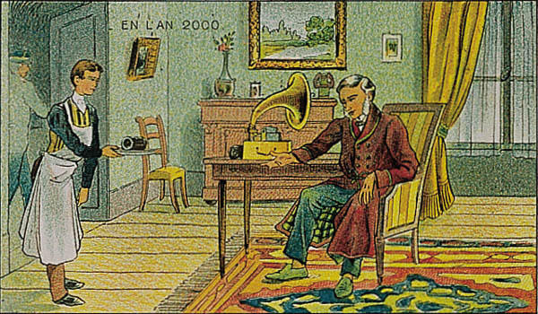 A portrait of a life in the year 2000 by Villemard (Utopie 1910)