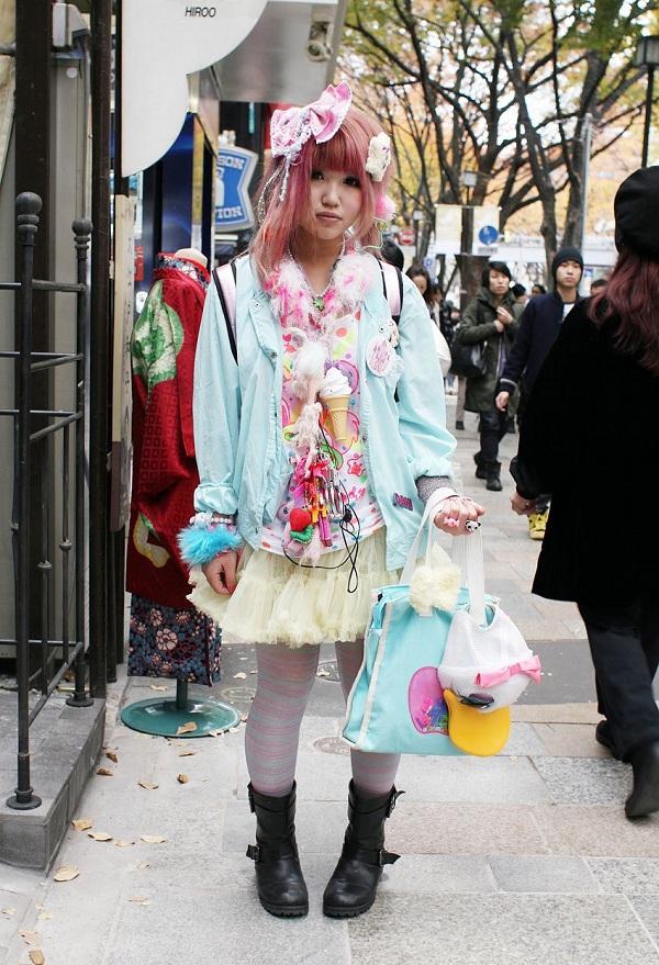 Harajuku style girl in Tokyo Japan