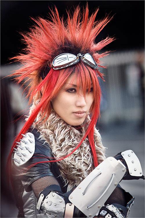 Harajuku girl in Tokyo Japan, Fantasy style, cyberpunk