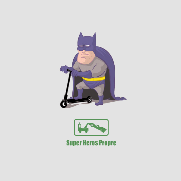 Super Heros Propre - Art By VINTZ