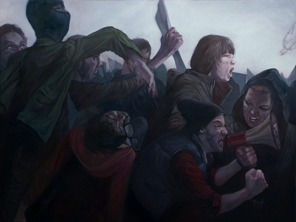 'Riot' by Vancouver's Eli Horn (Oil painting on canvas)