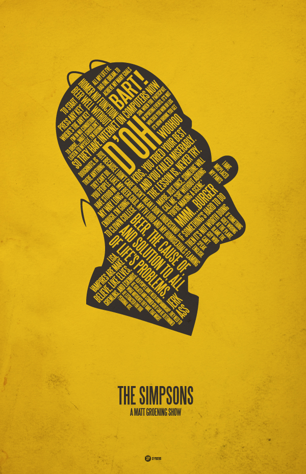 The Simpsons - 37 Posters by Jerod Gibson