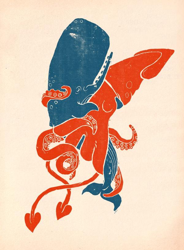 Whale and Squid - Paul Vizzari
