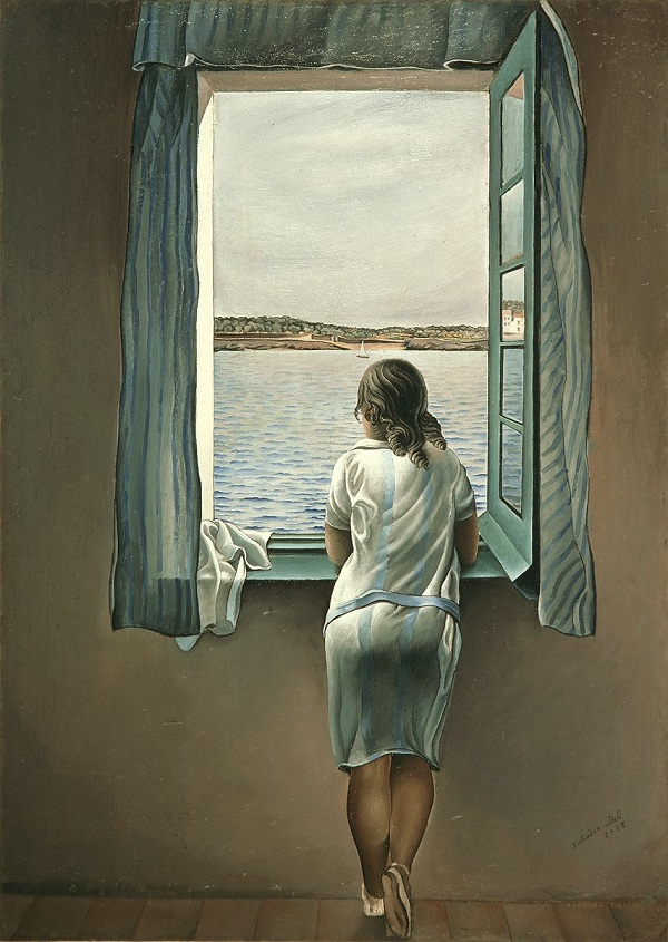 Salvador Dali's woman at the window (1925)