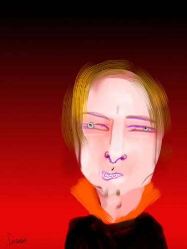 a portrait by Jonathan Schmock of anders behring breivik