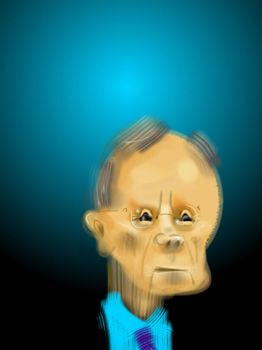 A portrait by Jonathan Scmock of Harry Reid