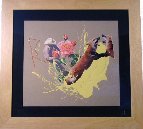 a work showing a fox and a cowboy by David Phillips is a Los Angeles-based painter, digital, video artist