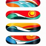 Tom Veiga's serie waves surf inspired art and design