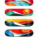 Tom Veiga's serie waves surf inspired art and design