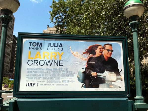 Larry Crowne movie poster in New York city
