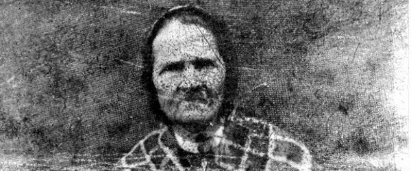 black and white image of an old lady in a classic fuzzy photograph