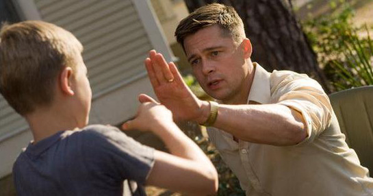 Brad Pitt and a boy in Terrence Mallick film The Tree Of Life (2011)