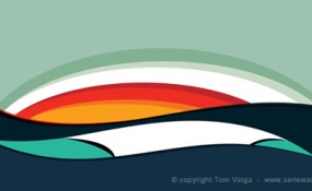 Tom Veiga's serie waves sun, swell, beach, and surf inspired art and design
